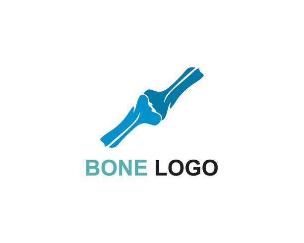 Bone logo vector template vector