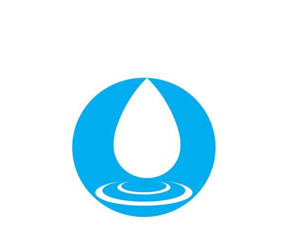 Vector de plantilla de logotipo de gota de agua