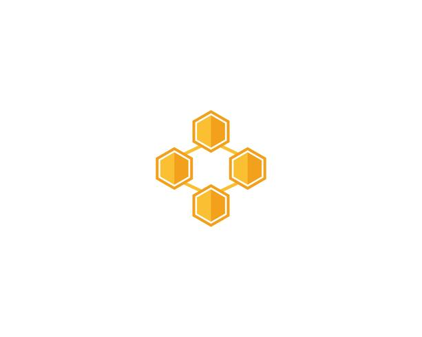 Plantillas de logotipo y símbolo de abeja vector
