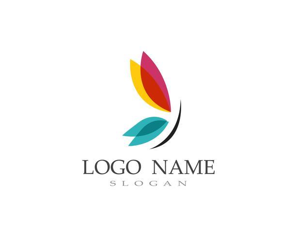 Vlinder logo en symbool Vector
