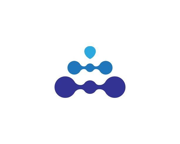 Molekyl symbol logotyp mall vektor illustration design