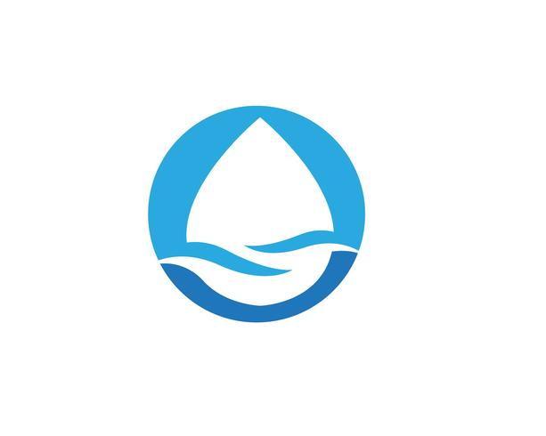 diseño de ilustración de vector de plantilla de logotipo gota de agua