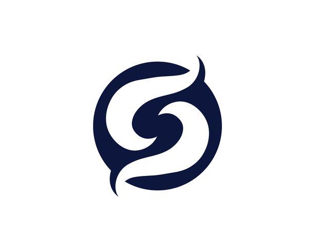 S-logo en symbool vector s