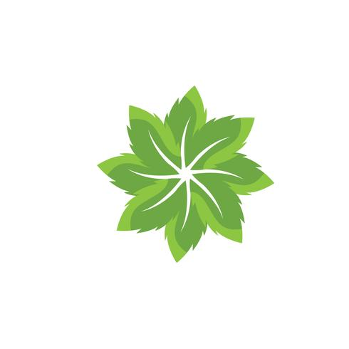 green leaf ecology nature element vector