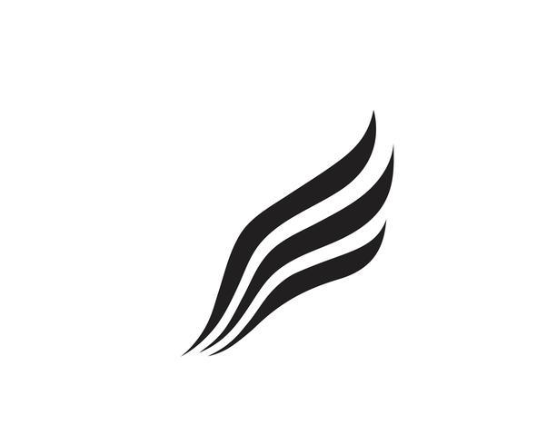 Wing Logo und Symbol Geschäftsvorlage