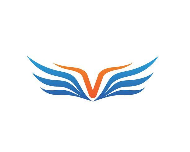 Modelo de negócio de logotipo e símbolo de asa