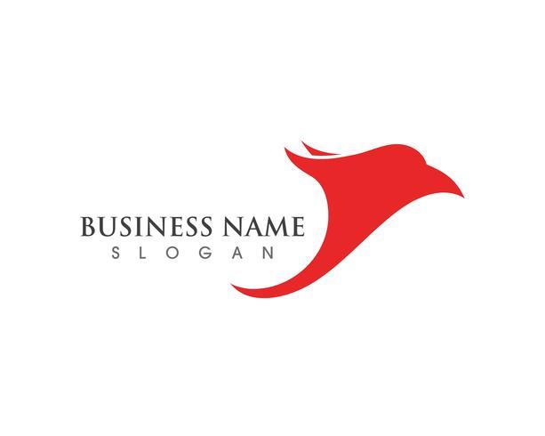 Logo et symbole du faucon à tête d'aigle