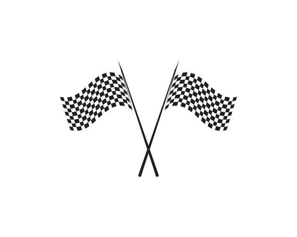 Icône d'indicateur de course, logo de conception simple