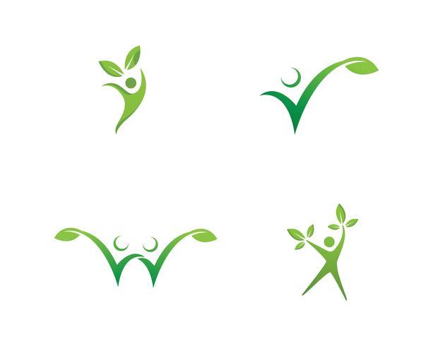 Vettore dell'icona di vettore del modello di logo di vita sana
