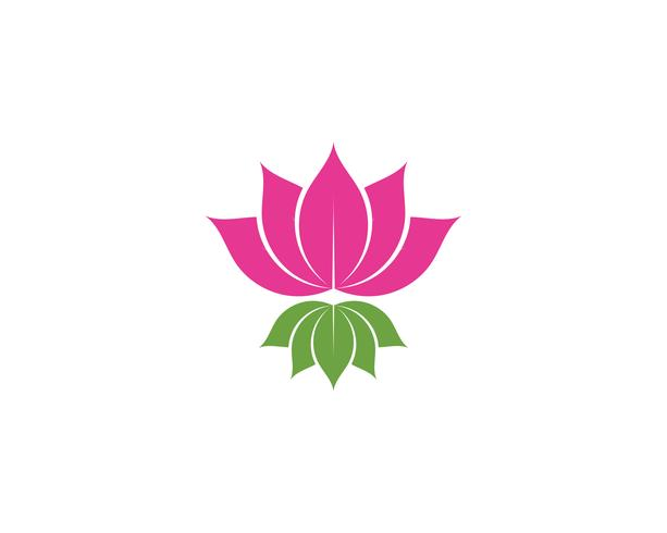 Lotus Flower Sign Wellness, Spa and Yoga. Vector Illustration