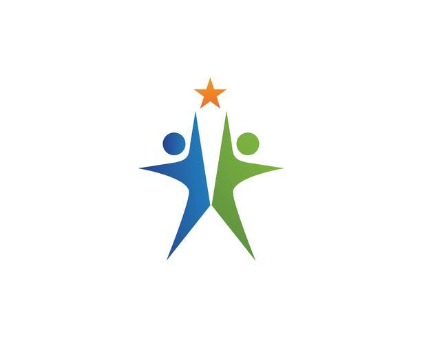 Liderazgo estrella icono plantilla vector illustration
