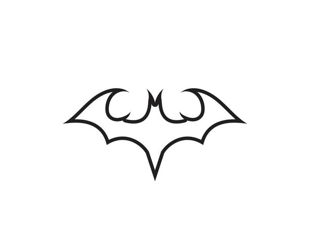 Fledermaus Vektor Icon Logo Vorlage