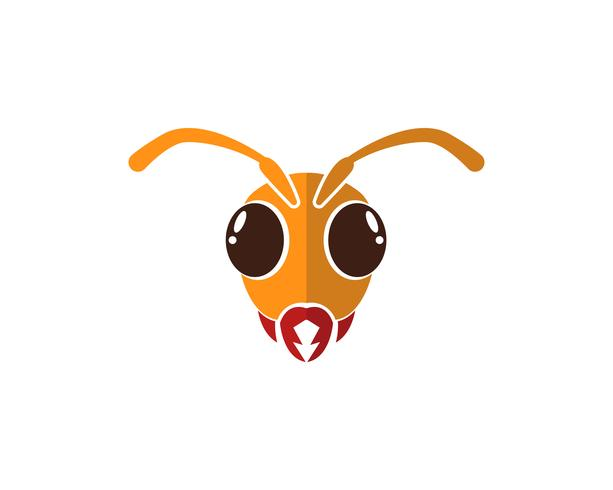 Ilustração em vetor modelo logotipo Ant