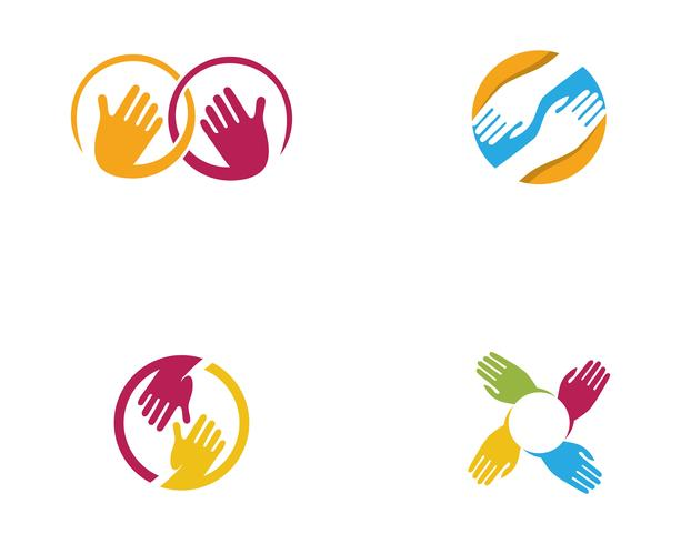 Mano cuidado Logo plantilla vector icono de negocios - vectores