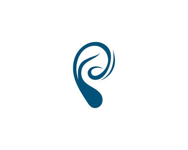 Hörande logotyp Mall vektorikonen vektor
