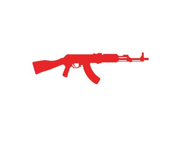 Gun vector symbol templates