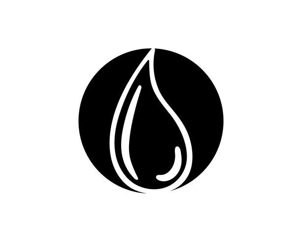 Gota de agua en color negro n logos.