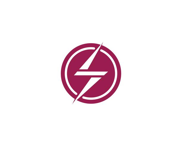 Flash thunderbolt logo template  vector