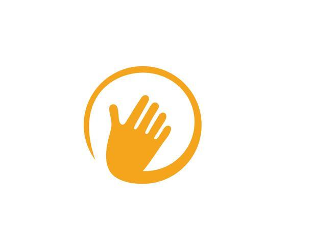 Icona di vettore del modello di Logo di cura della mano Business - vettori