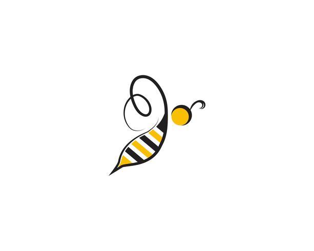 modèles de vecteur d'abeille logo et symbole