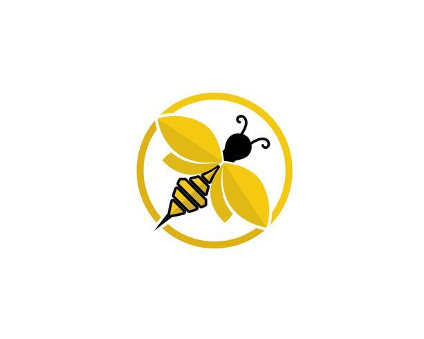 Bienenlogo und Symbol-Vektor-Vorlagen