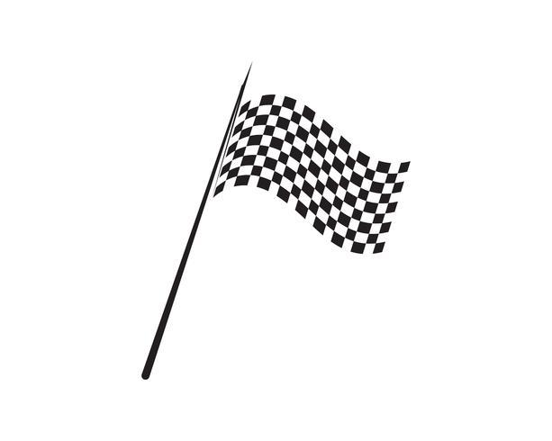 Race vlagpictogram, eenvoudig ontwerp-logo