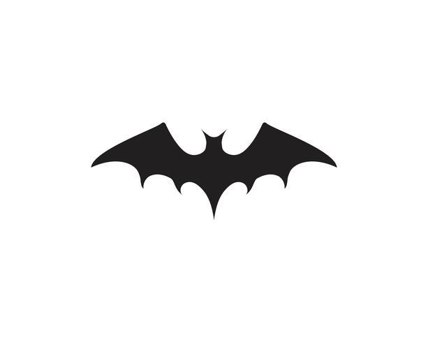 modello di logo icona di vettore del pipistrello