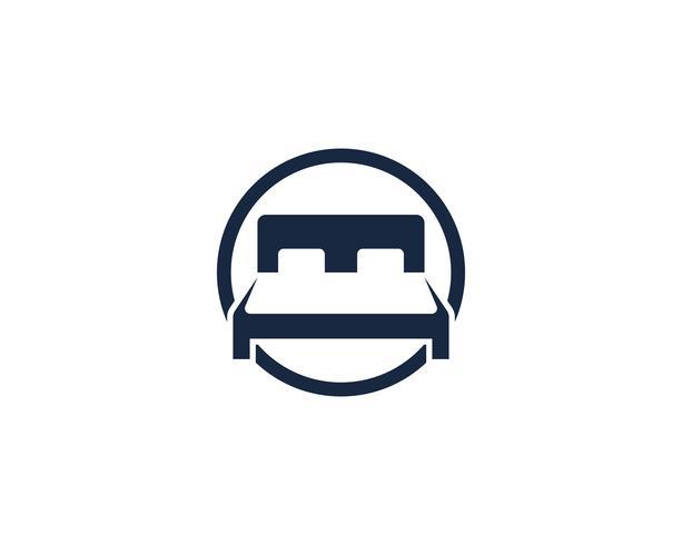 Logotipo de cama e símbolo hotel negócios logo vector