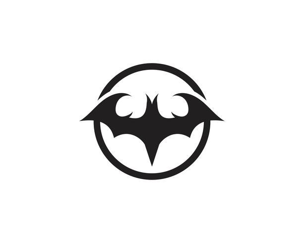 vleermuis vector pictogram logo sjabloon
