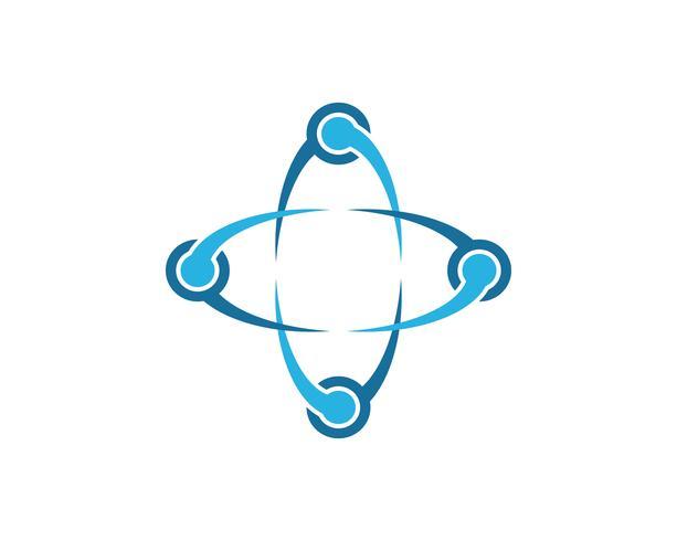 Infinity unity Design Vector icon illustration Logo template