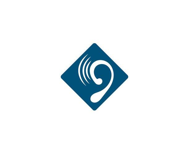 Icona di vettore del modello di logo di ascolto