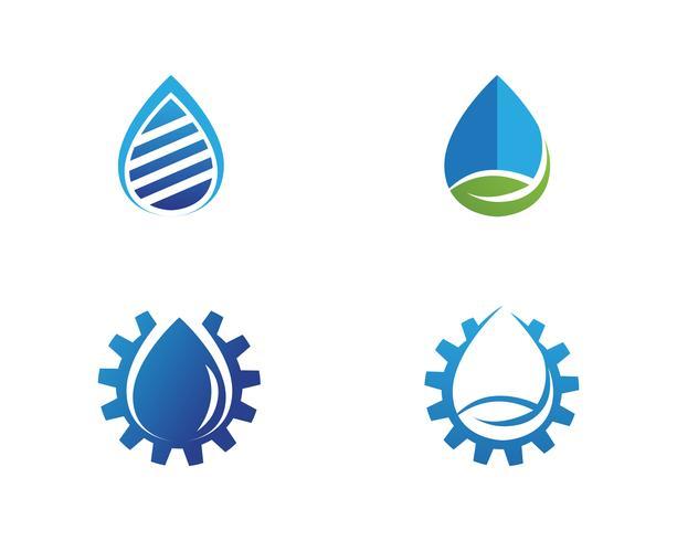 Illustrazione del modello logo goccia d'acqua