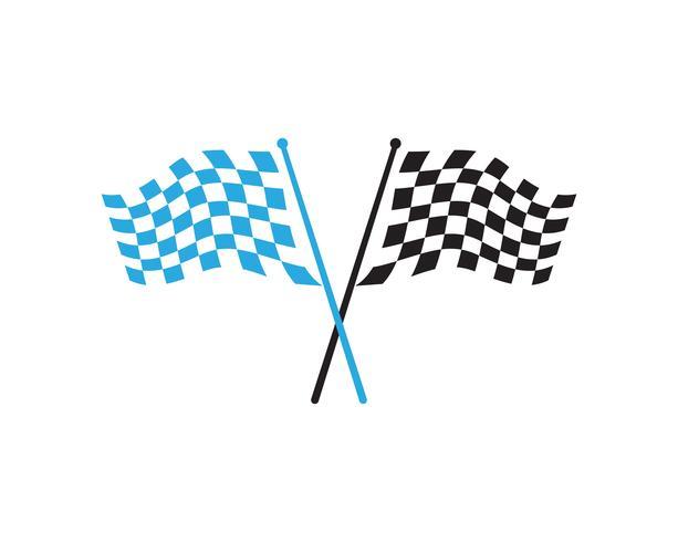 Icona della bandiera della corsa, logo design semplice