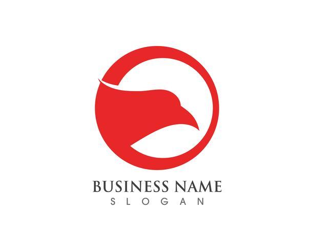 Logo e simbolo del falco della testa dell'aquila