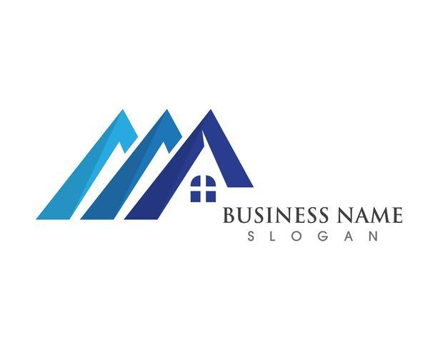 ícones de logotipo e símbolos de edifícios de casa