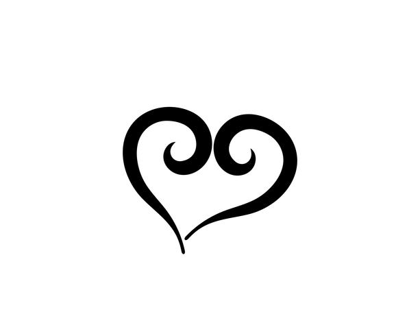 Amo os modelos de logotipo de símbolo de coração