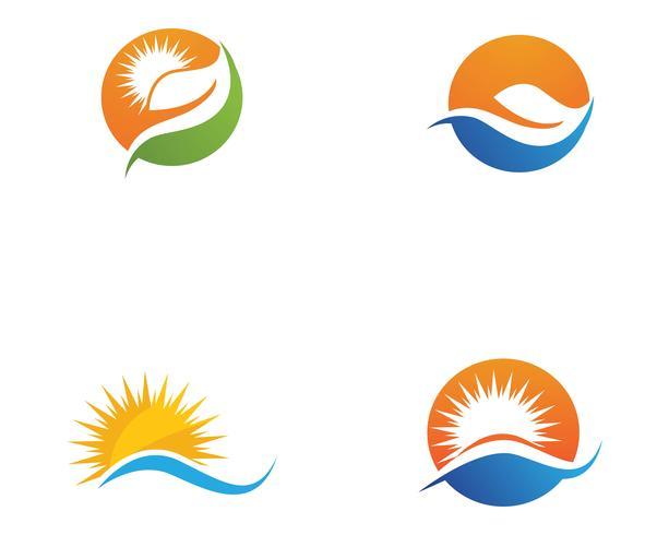 Icono de ilustración vectorial de sol
