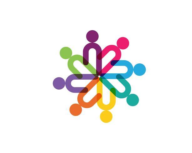 Gemeinschaftspflege Logo Vorlage Vektor Icon