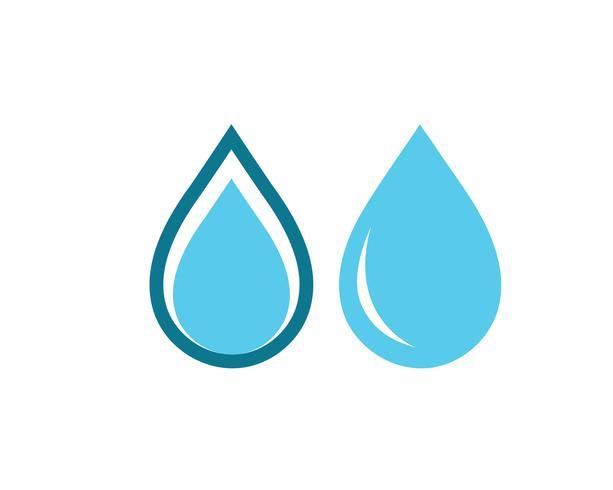 Water drop Logo Template vector