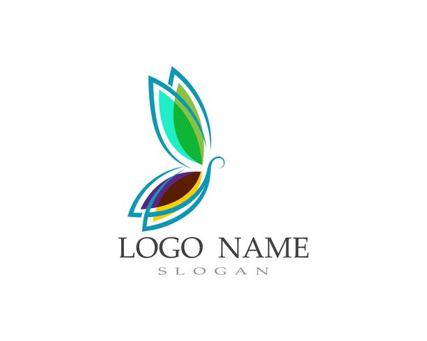 Butterfly logo and symbol Vector