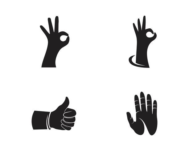 Hand zorg logo vector