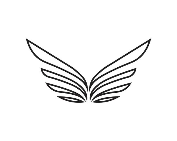 Wing logo and symbol business template