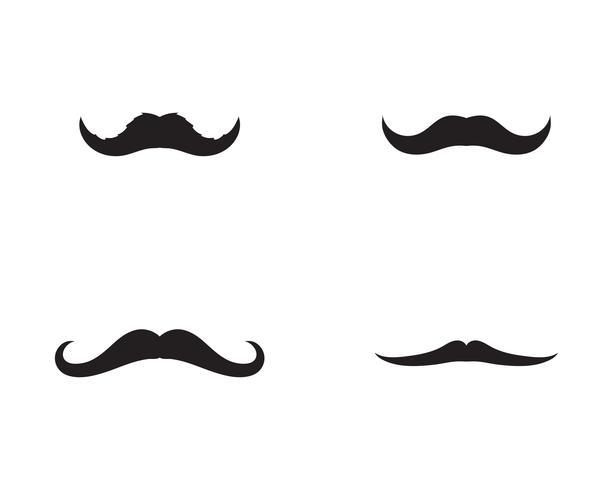 plantilla de vector logo bigote