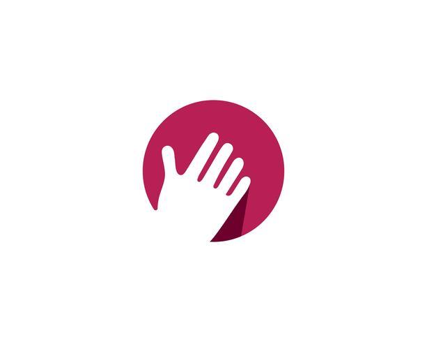 Handverzorging Logo sjabloon vector pictogram Business - vectoren