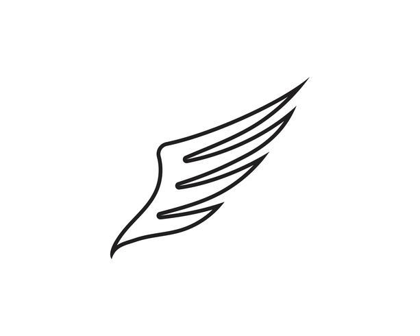 Aile noir Logo Template vector illustration design vecteur
