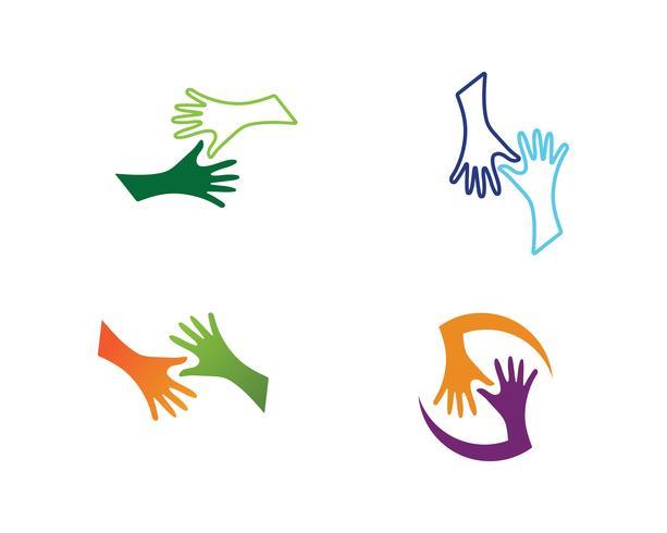 Hand shake symbol logo and symbol vector