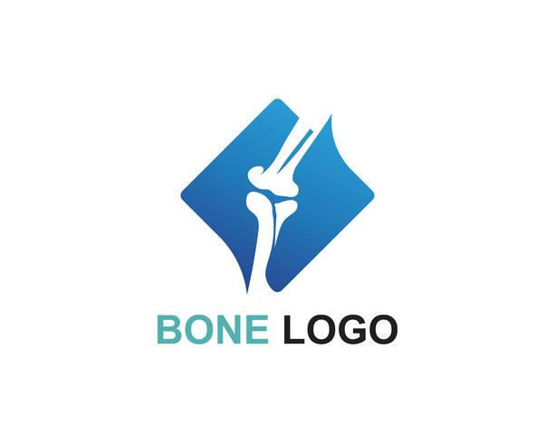 Bone logo vector template vecteur