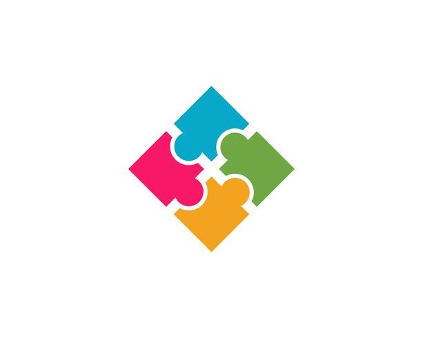 ícone de vetor de modelo de logotipo de cuidados comunitários