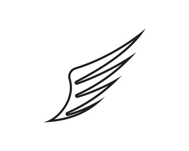 Vector negro del diseño del ejemplo del vector de la plantilla del logotipo del ala