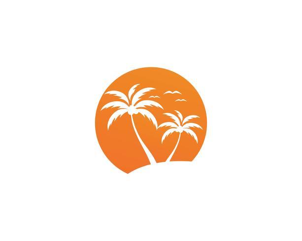 Palm zomer logo sjabloon